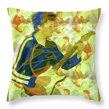 Dr. Guitar Throw Pillow