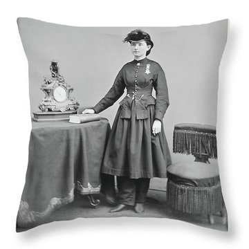 Dr. Mary Walker Throw Pillow