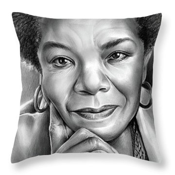 Dr Maya Angelou Throw Pillow