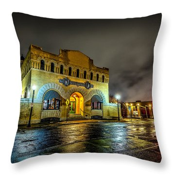 Throw Pillow featuring the photograph Dr Pepper Museum by David Morefield