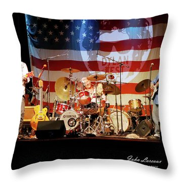 Dr Phil And The Heart Attacks Throw Pillow by John Loreaux