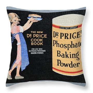 Dr. Prices Phosphate Baking Powder On Brick Throw Pillow