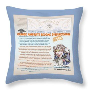 Real Fake News Antarctic Correspondent 1 Throw Pillow