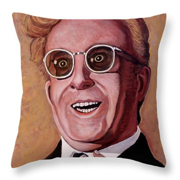 Throw Pillow featuring the painting Dr. Strangelove 3 by Tom Roderick