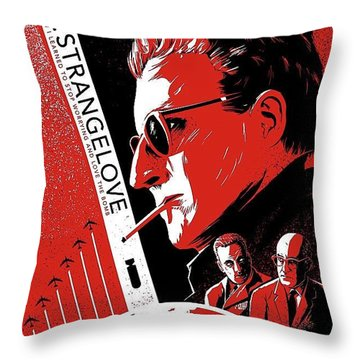 Dr. Strangelove Theatrical Poster Number Three 1964 Throw Pillow