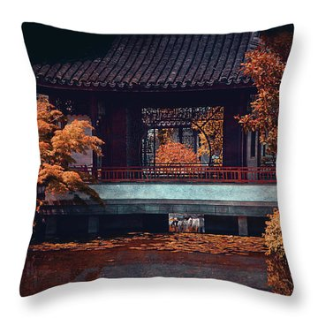 Dr. Sun Yat-sen Garden Throw Pillow