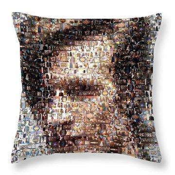 Dr. Who Mosaic Throw Pillow by Paul Van Scott