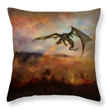 Dracarys Throw Pillow by Lilia D