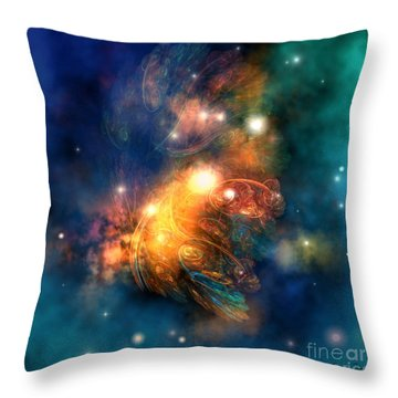 Draconian Nebula Throw Pillow by Corey Ford