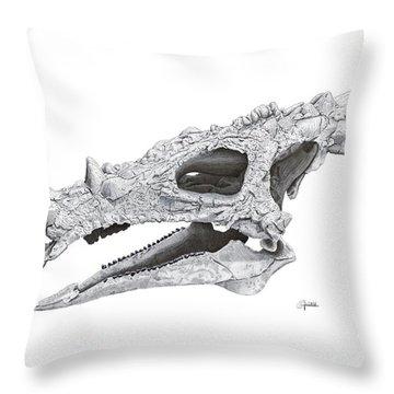 Dracorex Hogwartsia Skull Throw Pillow