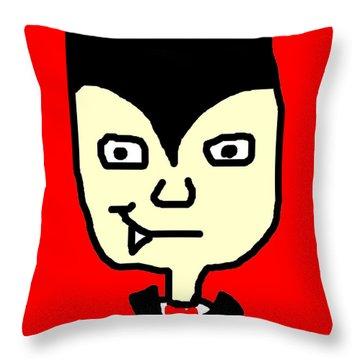 Dracula Throw Pillow by Jera Sky