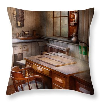 Drafting - Where Ideas Come From  Throw Pillow by Mike Savad