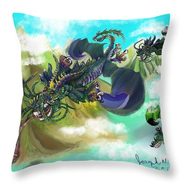 Dragging Around Throw Pillow
