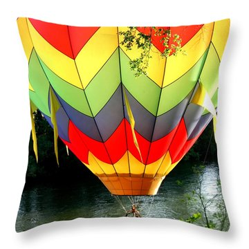 Dragging The Water   Line Throw Pillow by Marie Neder