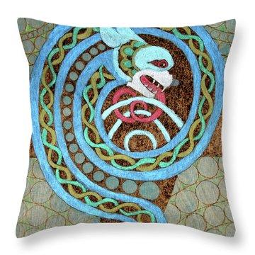 Dragon And The Circles Throw Pillow