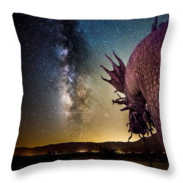 Dragon Attacks Borrego Springs Throw Pillow