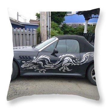 Dragon Bmw Throw Pillow by Pamela Patch