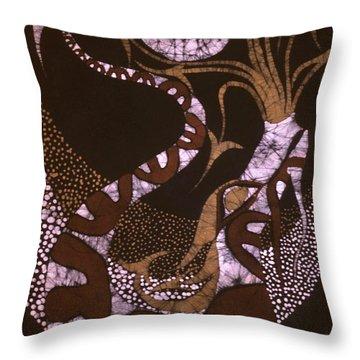 Dragon Breathing Arrows Throw Pillow by Carol Law Conklin