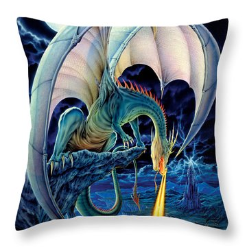 Dragon Causeway Throw Pillow