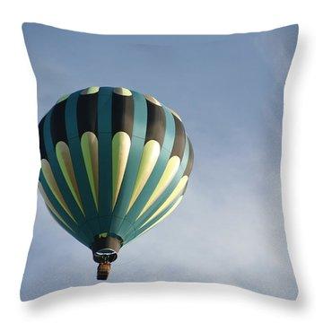 Throw Pillow featuring the digital art Dragon Cloud With Balloon by Gary Baird
