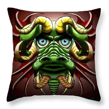Dragon Cow Throw Pillow