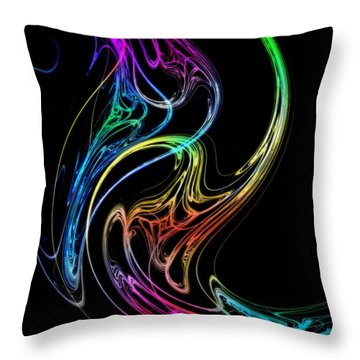 Throw Pillow featuring the photograph Dragon Dance by Mark Blauhoefer
