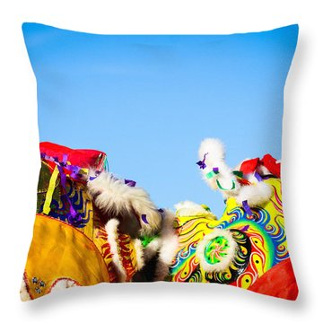 Dragon Dance Throw Pillow