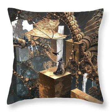 Dragon Dinner Throw Pillow