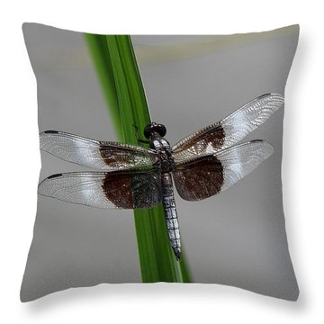 Dragon Fly Throw Pillow by Jerry Battle