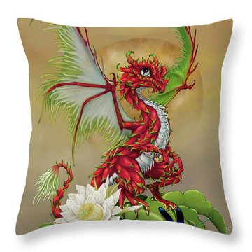 Throw Pillow featuring the digital art Dragon Fruit Dragon by Stanley Morrison