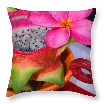 Dragon Fruit Throw Pillow