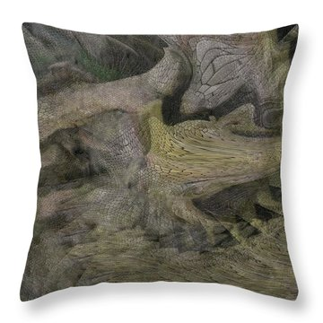 Dragon Fury Throw Pillow