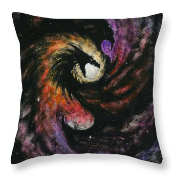 Dragon Galaxy Throw Pillow