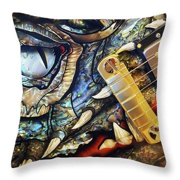Dragon Guitar Prs Throw Pillow