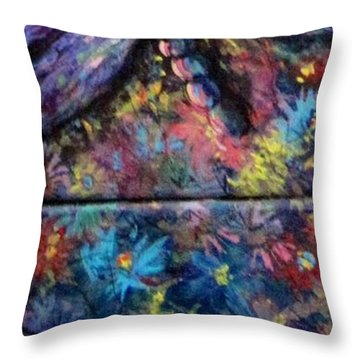 Throw Pillow featuring the painting Dragon Line by Megan Walsh