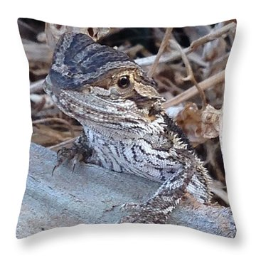 Dragon Lizard Throw Pillow