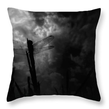 Dragon Noir Throw Pillow by Tim Good