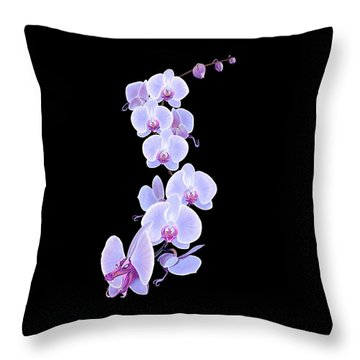 Dragon Orchid Throw Pillow