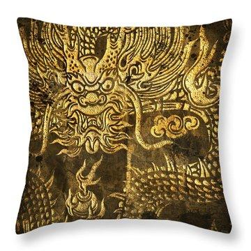 Dragon Pattern Throw Pillow by Setsiri Silapasuwanchai