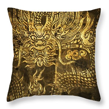 Dragon Pattern Throw Pillow