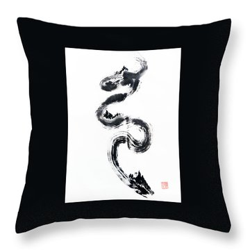 Dragon River Throw Pillow