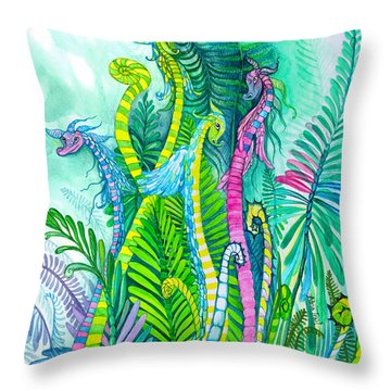 Dragon Sprouts Throw Pillow
