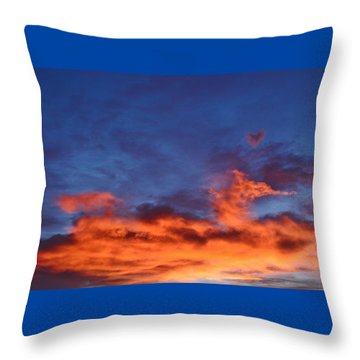 Throw Pillow featuring the photograph Dragon Sunrise by Diane Alexander