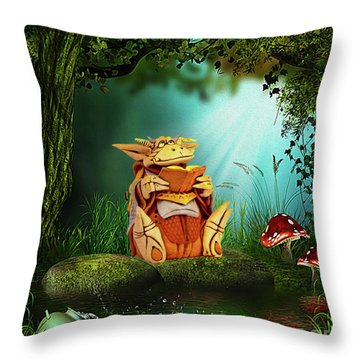 Dragon Tales Throw Pillow