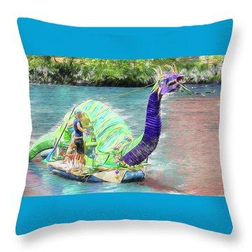 Dragon The Line Throw Pillow
