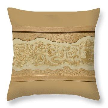 Dragon - The Spirit Of Water  Throw Pillow