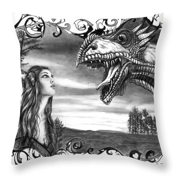 Dragon Whisperer  Throw Pillow