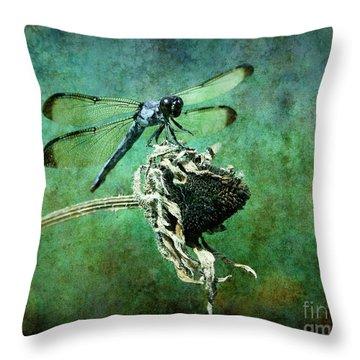 Dragonfly Art Throw Pillow by Sari Sauls