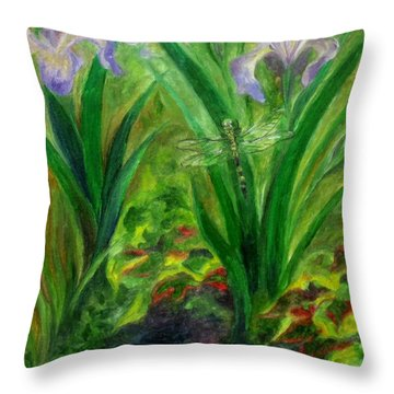 Dragonfly Medicine Throw Pillow