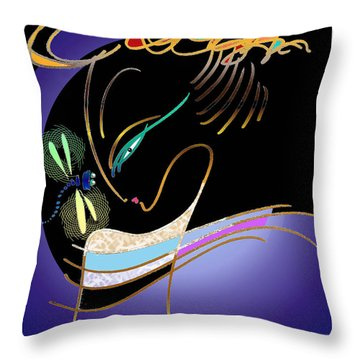 Dragonfly Messenger Throw Pillow
